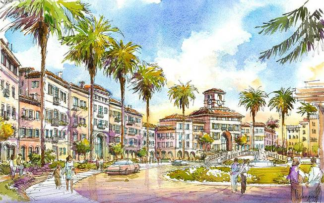 An artist's rendering of Union Village, the proposed $1.2 billion hospital-retail-residential project on Galleria Drive at U.S. 95 in Henderson.