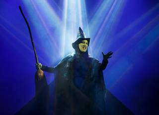 """Wicked,"" starring Emma Hunton as Elphaba, the Wicked Witch of the West, is at the Smith Center for the Performing Arts from Oct. 8-Nov. 9, 2014, in downtown Las Vegas."