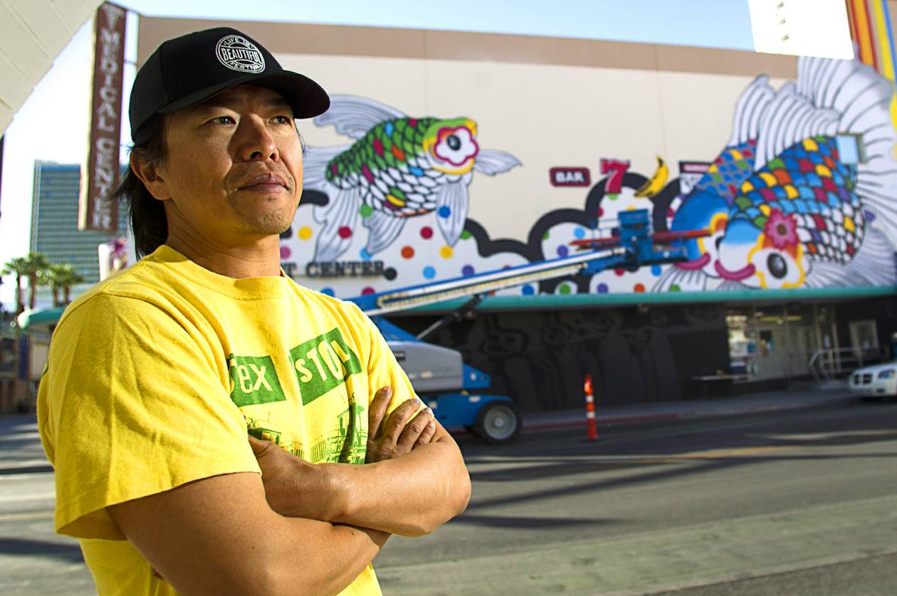The Las Vegas artist transforms the walls of Child Haven