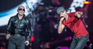 The Sex and Love World Tour of co-headliners Enrique Iglesias and Pitbull on Sunday, Oct. 12, 2014, at Mandalay Bay Events Center.