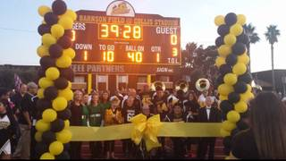 Clark High School named its football field this month after retired coach Larry Barnson.
