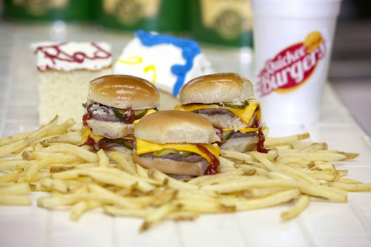 Quickee Burgers offers burgers, fries, cake, shakes and more, with various combination deals.
