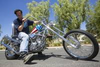 "The customized Captain America chopper Peter Fonda rode in ""Easy Rider"" is up for auction this weekend in California. Or is it? Gordon Granger of Texas says he bought the original ""Easy Rider"" motorcycle in 1996 from ..."