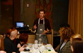 Bobby Flay celebrates 10 years of his Mesa Grill on Tuesday, Oct. 14, 2014, in Caesars Palace.