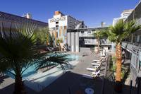 A view of the pool at Oasis at Gold Spike in downtown Las Vegas on Tuesday, Oct. 21, 2014. The Oasis, a boutique hotel owned and operated by the Downtown Project, officially unveiled renovations during a tour Tuesday.