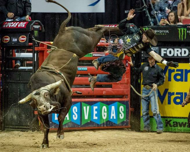 Round 3 of the 2014 PBR Built Ford Tough Series World Finals at the Thomas & Mack Center on Friday, Oct. 24, 2014, at UNLV.