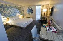 A standard room is shown during a tour of the Linq Hotel and Casino (formerly Imperial Palace and The Quad) on Monday, Oct. 27, 2014. The casino is in the first phase of a $223 million renovation project.