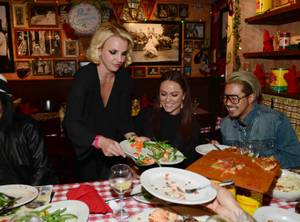 Britney Spears Hosts at Buca di Beppo