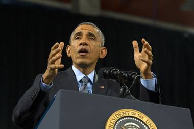President Obama speaks on immigration at Del Sol High School Friday, Nov. 21, 2014.