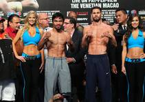 Pacquiao, Algieri Weigh in for Macau Fight