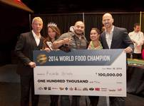 San Diego chef Ricardo Heredia wins the overall title at the 2014 World Food Championships on Sunday, Nov. 16, 2014, in downtown Las Vegas.