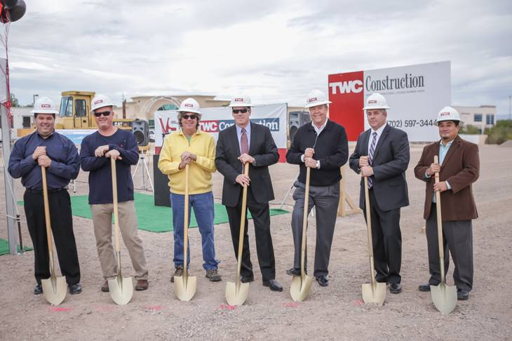 Officials from Henderson-based TWC Construction Inc. broke ground on a VSR Industries facility Nov. 19.