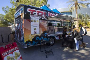 Find this truck and eat a teppan feast in burrito form.