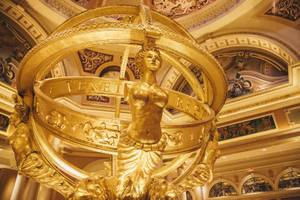 A statue inside the main lobby of the Venetian  in Las Vegas, Nev.
