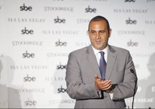Sam Nazarian speaks during a press conference at SLS Las Vegas on Friday, Aug. 22, 2014.