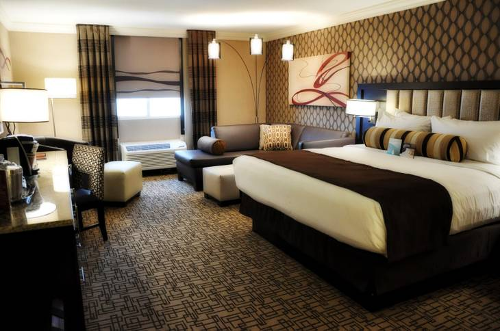 A renovated room in the Gold Tower at the Golden Nugget, which announced the completion of a $15 million renovation Thursday.