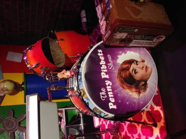 The Penny Pibbets drum head, shown at Art Square Theater on Friday, Dec. 12, 2014.