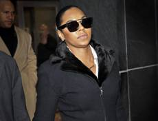 Singer Ashanti leaves the courthouse after testifying at Devar Hurd's trial in New York, Tuesday, Dec. 16, 2014.