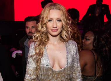 Iggy Azalea hosts and performs at Drai's on Wednesday, Dec. 31, 2014, atop the Cromwell.