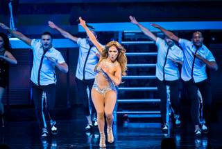 Jennifer Lopez performs at the Colosseum on Wednesday, Dec. 31, 2014, in Caesars Palace.