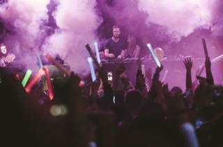 Calvin Harris spins at Hakkasan on Wednesday, Dec. 31, 2014, in MGM Grand.