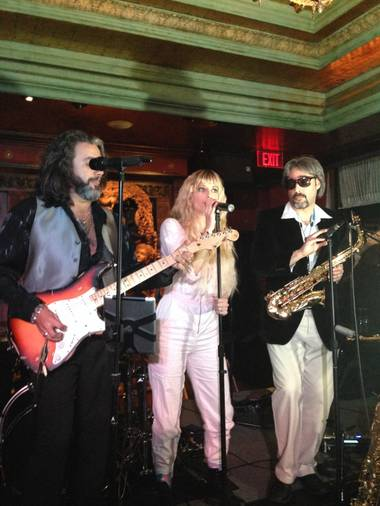 "Guests John Acosta and Anne Martinez join Jon Celentano in a performance by Michael ""Mack"" Donald's Pleasure Cruise at Foundation Room on Thursday, Jan. 15, 2015, in Mandalay Bay."