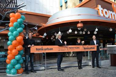 Tom's Urban restaurant opened Monday, Jan. 12, 2015, at the New York-New York on the Las Vegas Strip.