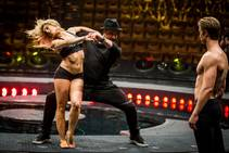 "Maksim Chmerkovskiy, center, choreographs a new scene in ""Le Reve — The Dream"" on Sunday, Nov. 16, 2014, at Wynn Las Vegas."