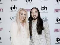 Britney Spears and Steve Aoki at Axis at Planet Holllywood on Wednesday, Jan. 28, 2015.