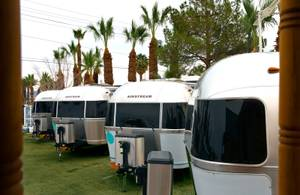"Airstream ""crash pads"" for guests."