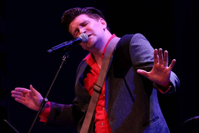 "Ben Hale of ""Million Dollar Quartet"" at Harrah's performs at Cabaret Jazz on Saturday, Jan. 31, 2015, in the Smith Center."