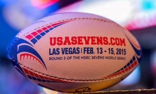 The USA Sevens Rugby Parade of Nations at Fremont Street Experience on Thursday, Feb. 12, 2015, in downtown Las Vegas.