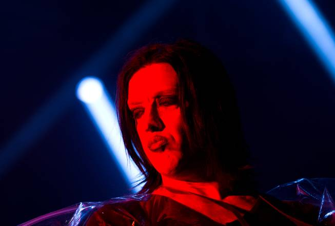 Marilyn Manson performs at House of Blues on Saturday, Feb. 14, 2015, in Mandalay Bay.