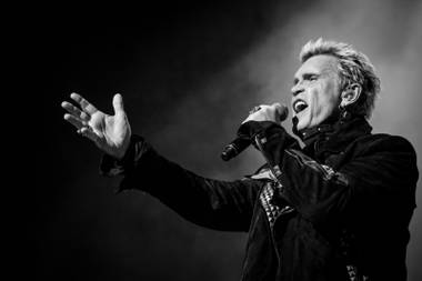 Billy Idol performs at The Chelsea on Saturday, Feb. 21, 2015, in The Cosmopolitan of Las Vegas.