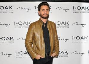 Scott Disick and Kourtney Kardashian at 1 OAK