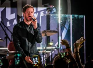 Imagine Dragons perform during their Destinations Dragons Tour stop presented by Southwest Airlines at Vinyl on Monday, Feb. 23, 2015, in Hard Rock Hotel Las Vegas.