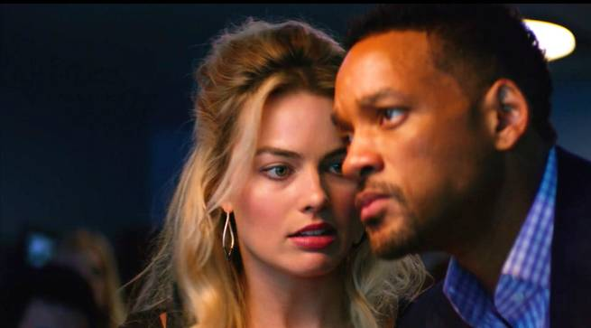 "Margot Robbie and Will Smith play con artists in ""(Never Lose) Focus."""