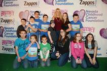 Britney Spears with Nevada Childhood Cancer Foundation kids on Saturday, Feb. 28, 2015, at Zappos.com in downtown Las Vegas.
