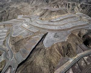 "Unbuilt ""Ascaya"" Development Looking Southeast; $250 Million In Mountaintop Removal and Terracing, Henderson, NV; 2012."