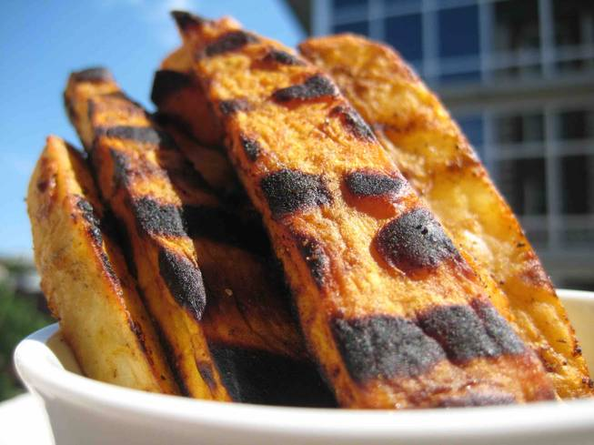 For a blast of nutrients, try baked sweet potato fries.