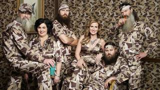 "The Robertson family of ""Duck Dynasty"" on A&E."