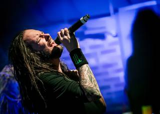 Korn at Brooklyn Bowl on Friday, March 13, 2015, in the Linq Promenade.