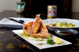 Salt and pepper prawns at Inyo Asian Variety.