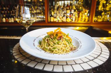 Next time you find yourself near Bartolotta, try the spaghetti with Sardinian bottarga.