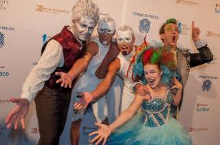 Cirque du Soleil's 'One Night for One Drop' blue carpet Friday, March 20, 2015, at 1 OAK in the Mirage.