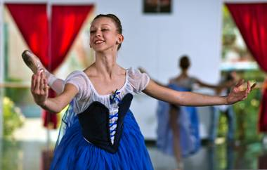 Local ballerina Monika Haczkiewicz dances at the Youth America Grand Prix this month, in front of artistic directors from many of the top ballet companies in the world.