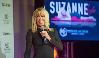 "Suzanne Somers officially announces her new show ""Suzanne Sizzles"" on Wednesday, March 25, 2015, at Westgate Las Vegas."