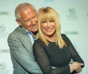 "Suzanne Somers, with husband Alan Hamel, officially announces her new show ""Suzanne Sizzles"" on Wednesday, March 25, 2015, at Westgate Las Vegas."