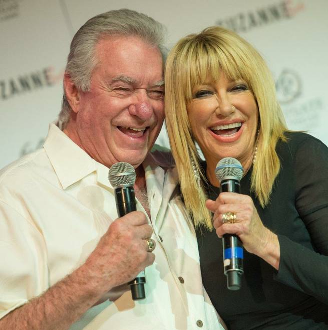 "Suzanne Somers, with Westgate Las Vegas CEO and owner David Siegel, officially announces her new show ""Suzanne Sizzles"" on Wednesday, March 25, 2015, at Westgate Las Vegas."