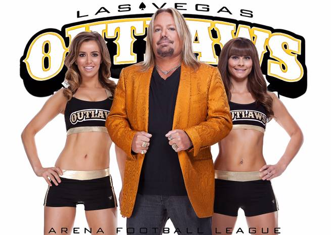 Vince Neil owns new Arena Football League team the Las Vegas Outlaws.